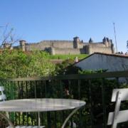 Chambre d'hôtes à Carcassonne avec vue sur le château