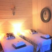 Chambre d'hôtes à Carcassonne : Nougat en lits jumeaux